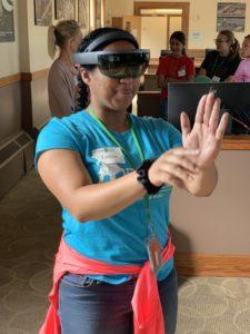 Participant doing VR