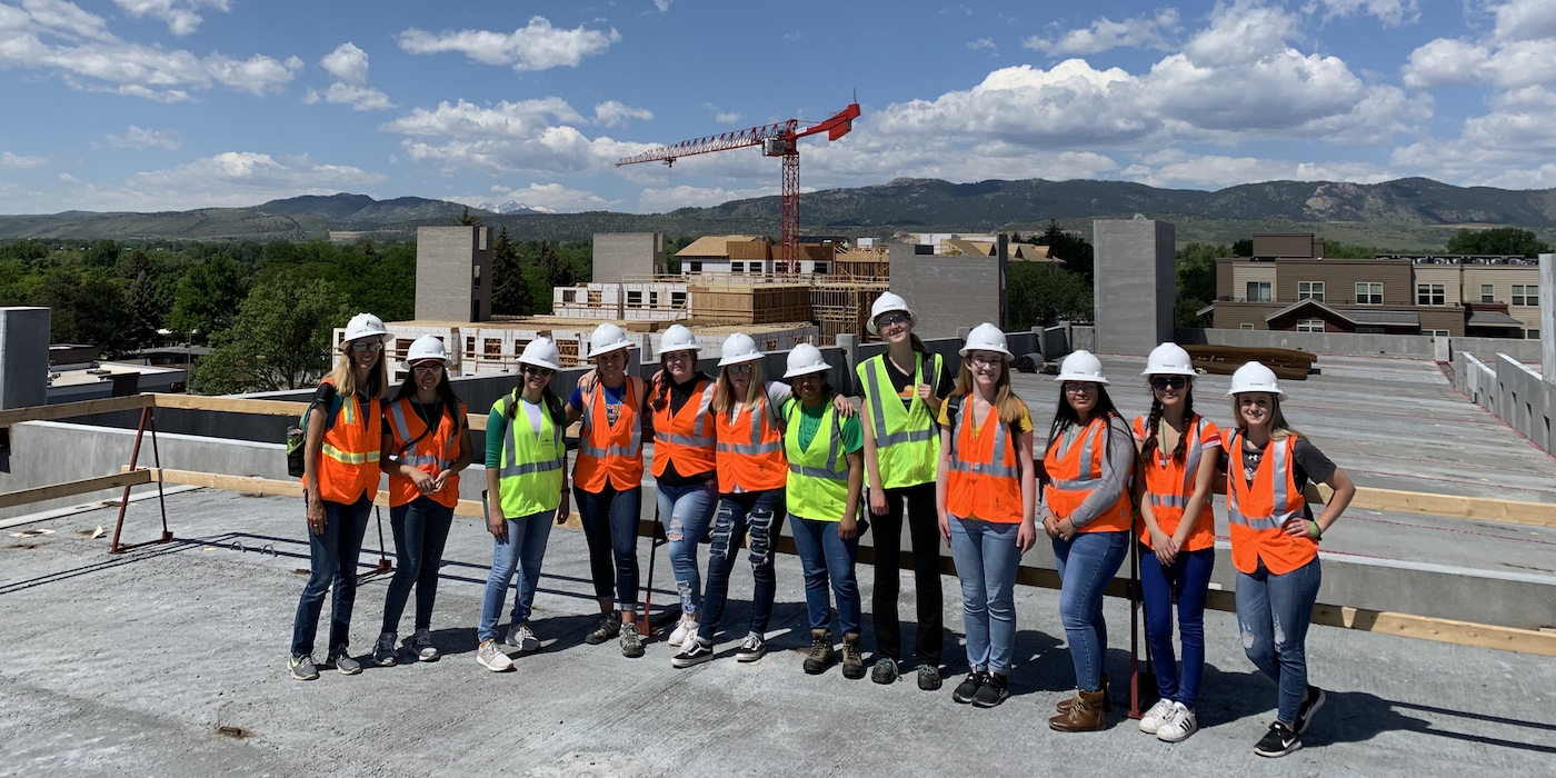 Group photo at a job site