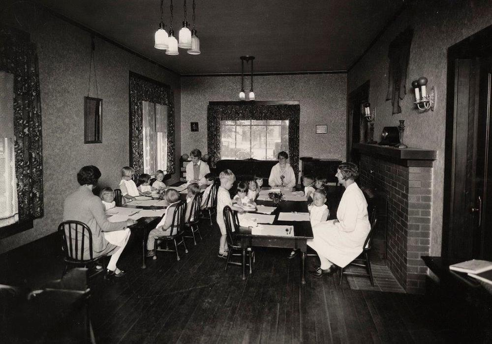 Children at school in 1928
