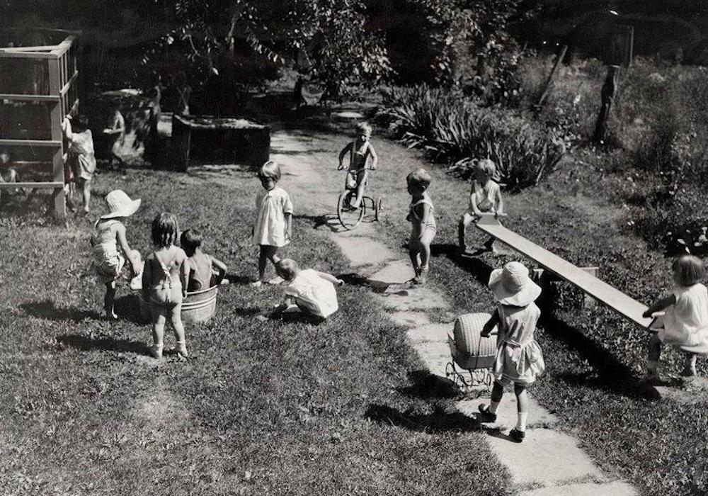 Children at school in 1931