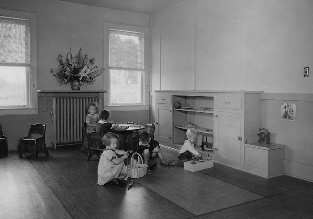 Children at school in 1936