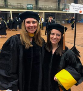 Arlene Schmid and Laura Swink at graduation