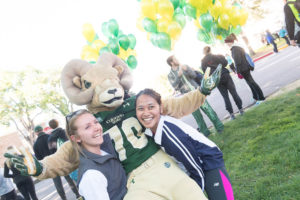 CAM the Ram with Homecoming Race participants