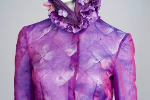 A purple piece of formal wear from Dugi's collection.