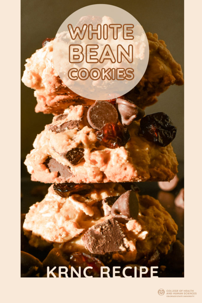 Stacked cookies: white bean cookie recipe.