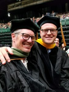 Aaron Eakman and Adam Kinney at graduation