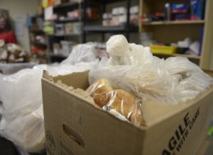 bread in a box at the homeward alliance food pantry