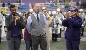 Matthew Hickey at the Western Carolina University alumni Homecoming ceremony.