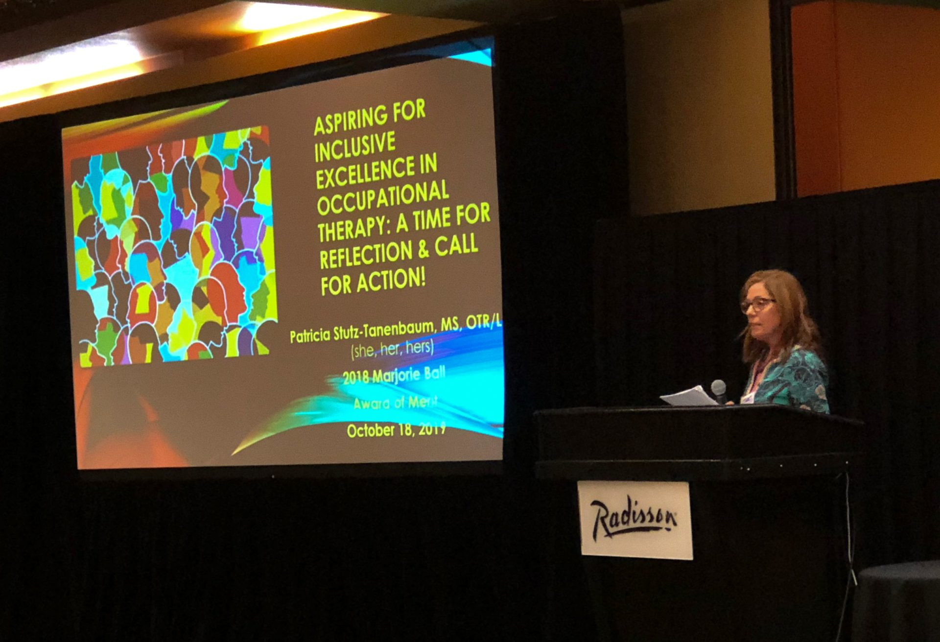 Patty presenting at the OTAC Conference