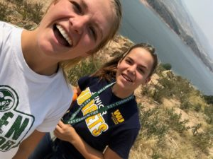 Cami Ciesielski and her mentee hiking at Horsetooth Reservoir