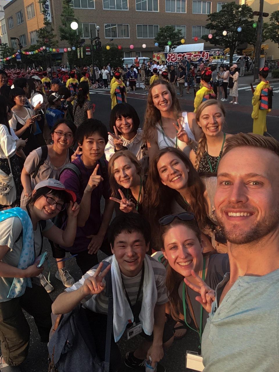 CSU and Yamagata students at festival