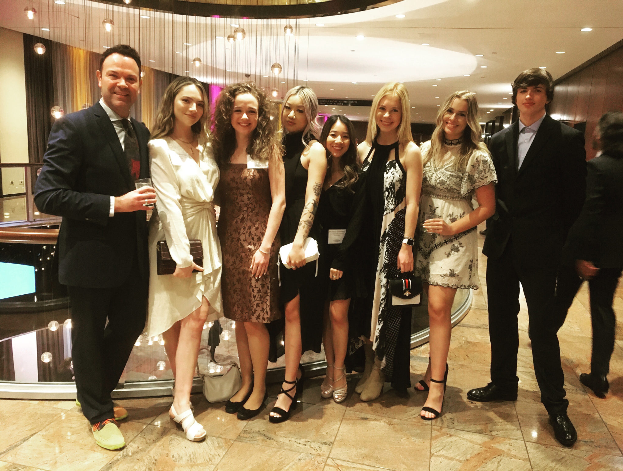 A group of students and staff at the FSF Gala