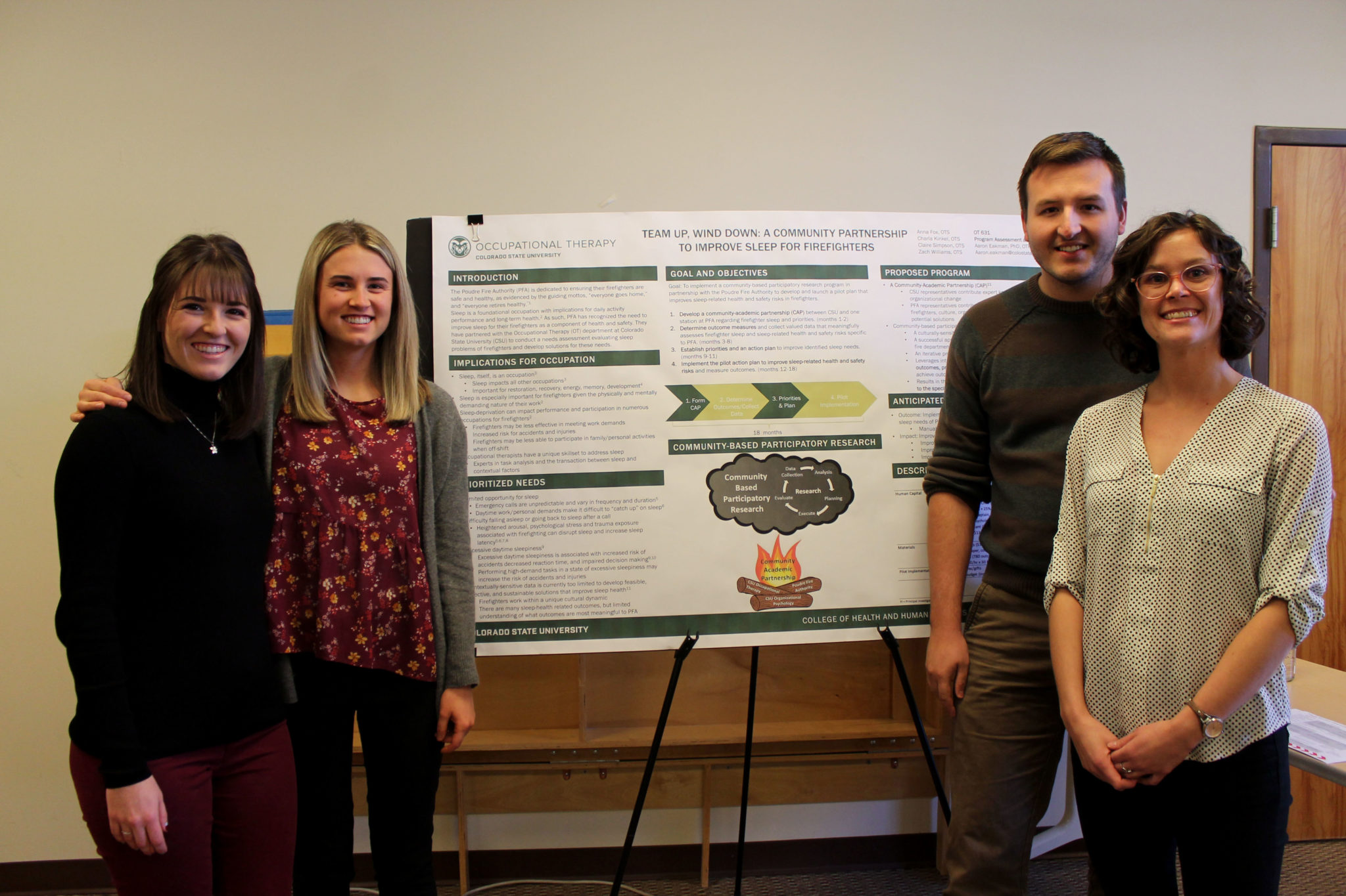 Students standing in front of their poster