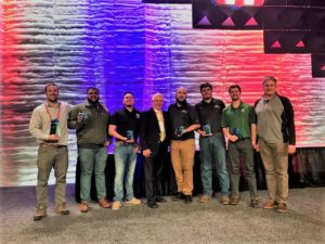 CM Roofing Team with 2nd Place Awards