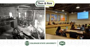 Precon room 122 Then and Now - Mech Eng lab 1925 and classroom 2019