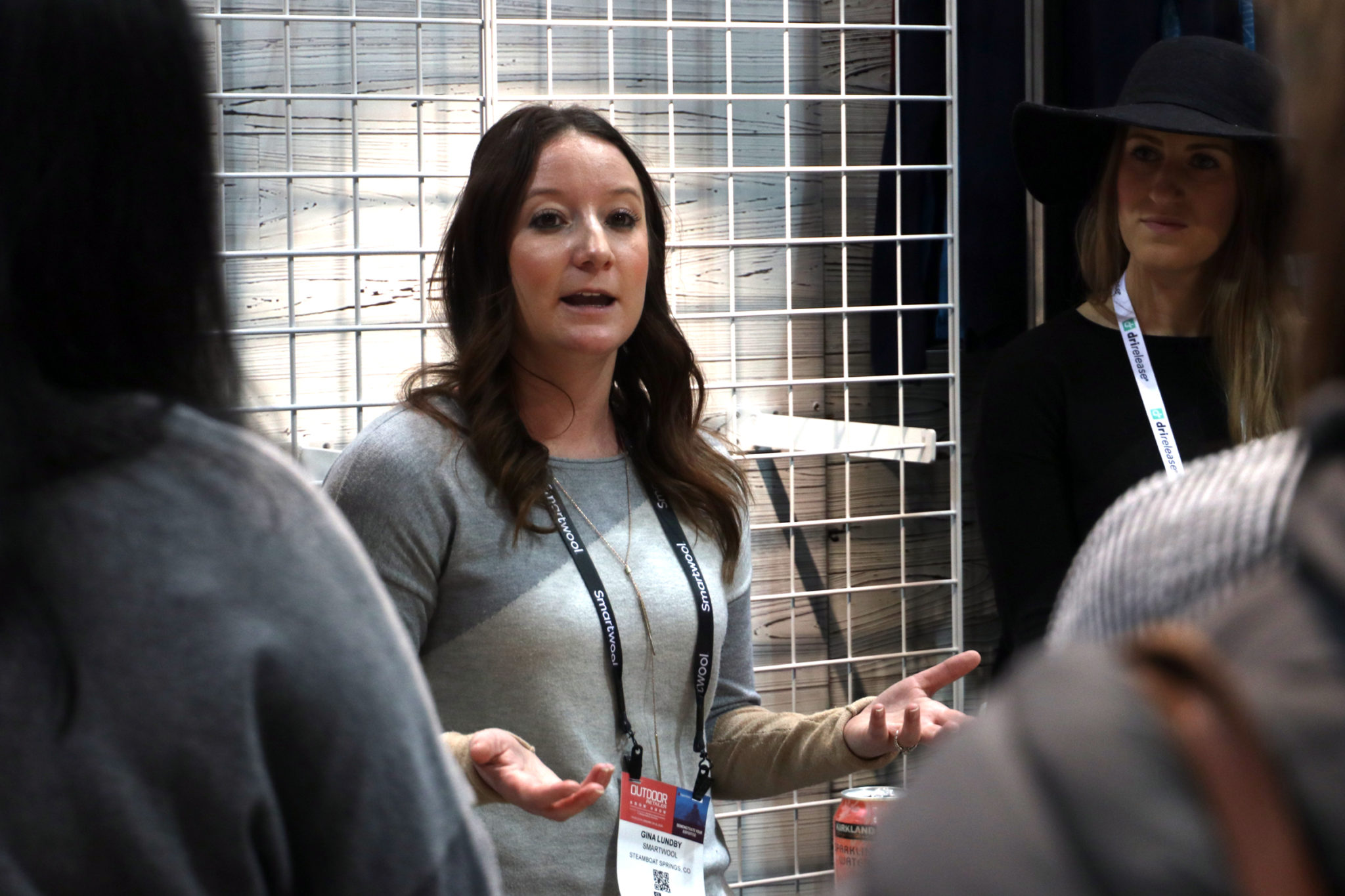 CSU alumna Gina Lundby talks to CSU students about Smartwool