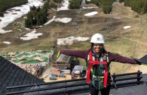 Vanna Hosanny on site at her internship