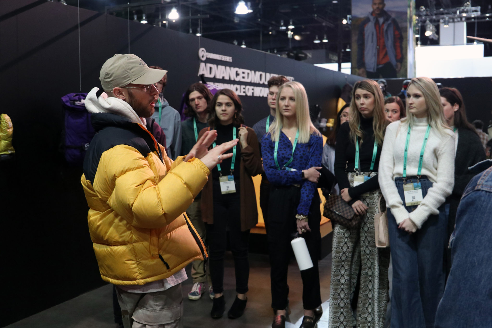 Speaker form the outdoor company, Northface, talks to CSU students