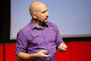 Vincent Basile speaks at TEDxCSU