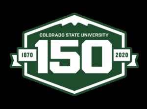 Colorado State University 150th Anniversary logo