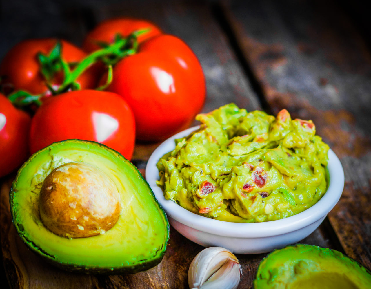 guacamole and produce