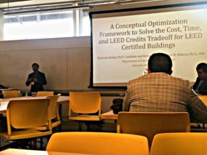 Shantanu Kumar presenting at CRC Conference