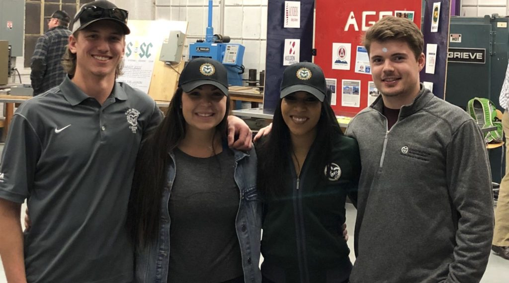 Vanna Hosanny and her classmates at a construction conference.