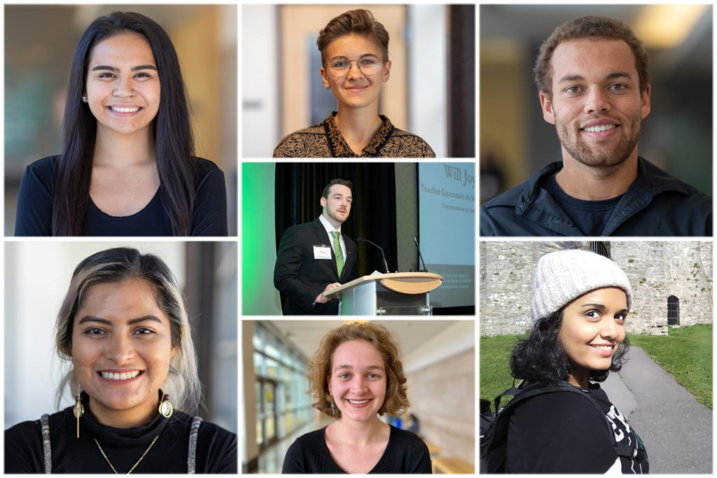 Collage image of all seven scholarship winners