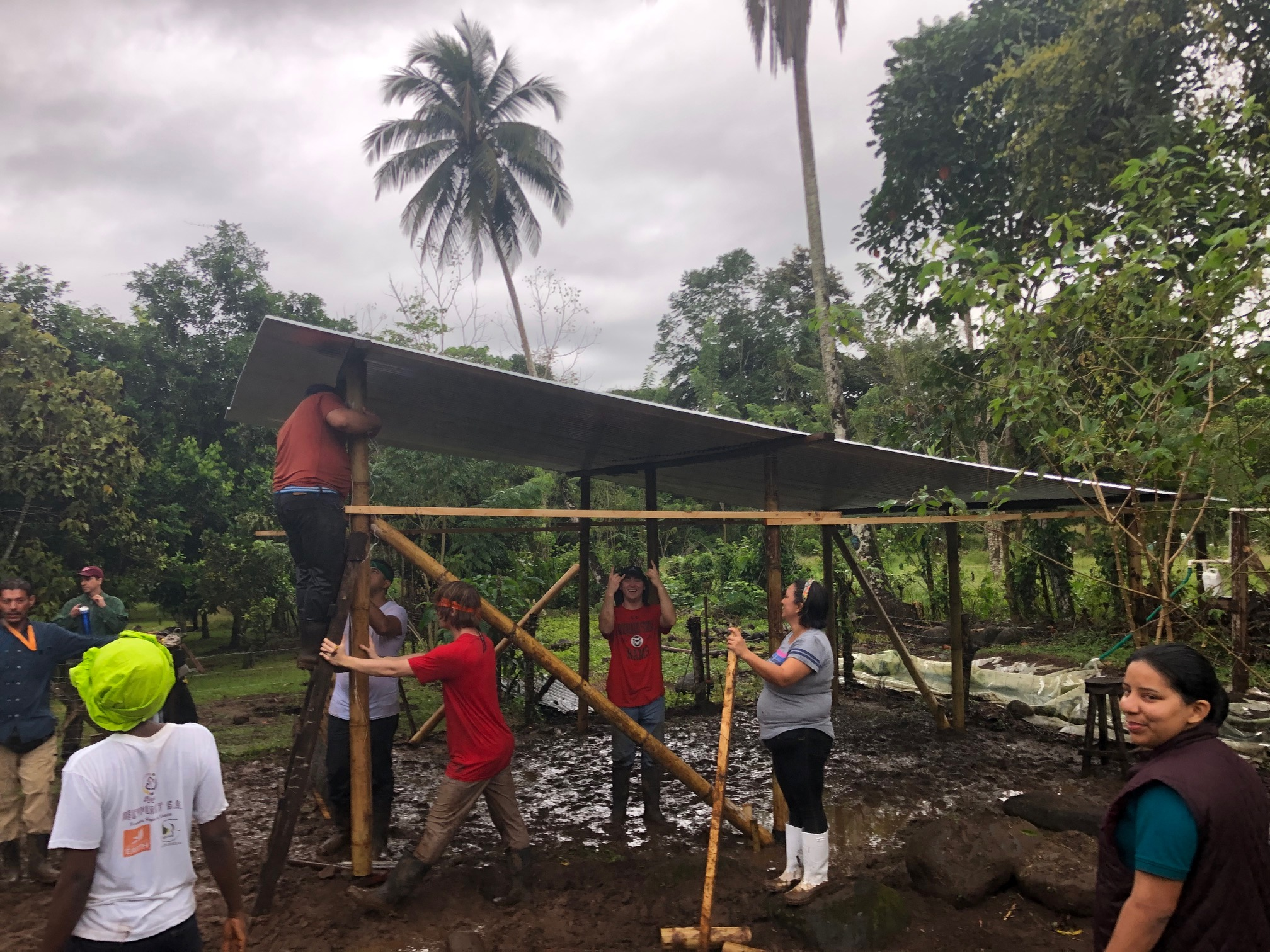 Group building shelter