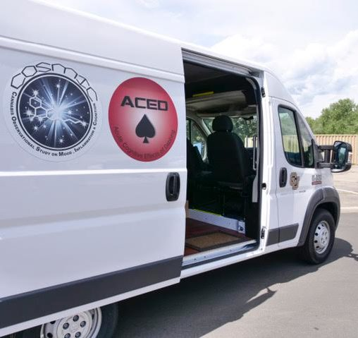 The van used for testing