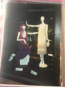 Vintage Photo from a previous Avenir Exhibition with the purple dress