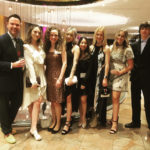 Pettner with the CSU FSF 2020 winners at the awards dinner in New York City. Pictured left to right: Kevin Kissell, design and merchandising instructor, Jemma Jackman, Bee Pettner, Alexis Davis, Michaela Knollmann, Natalie Schluter, Annie Sautel, and Nick Hoff.