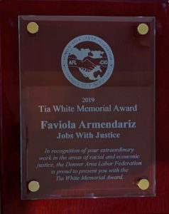 Tia White Memorial Award