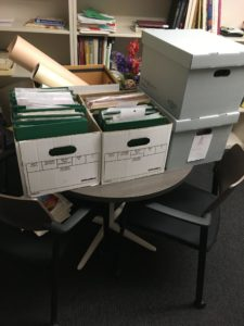 Photo of Boxes on their way to be digitized at the library