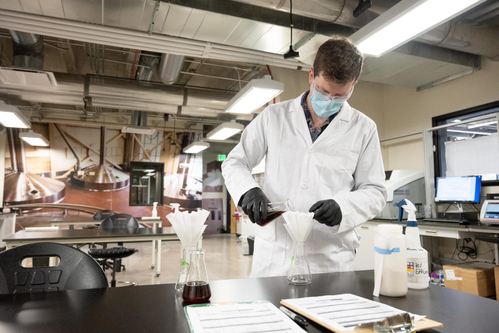 Leo Kisla in the lab