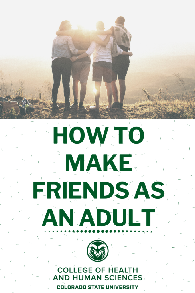 how to make friends as an adult