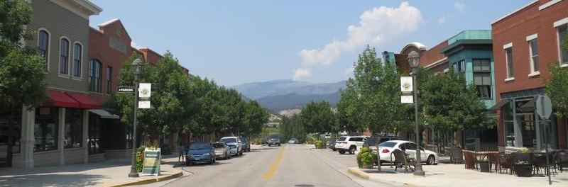 colorado town main street view