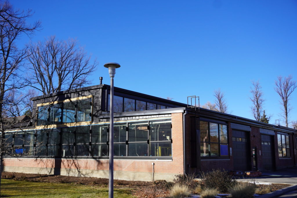 Industrial Sciences Lab on a late autumn afternoon day.