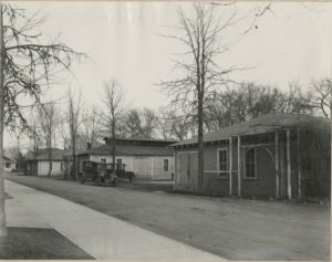 1924 photo of 3 separate buildings that became the IS Lab building