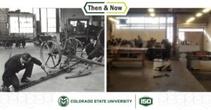 Then and Now of IS Lab building with students