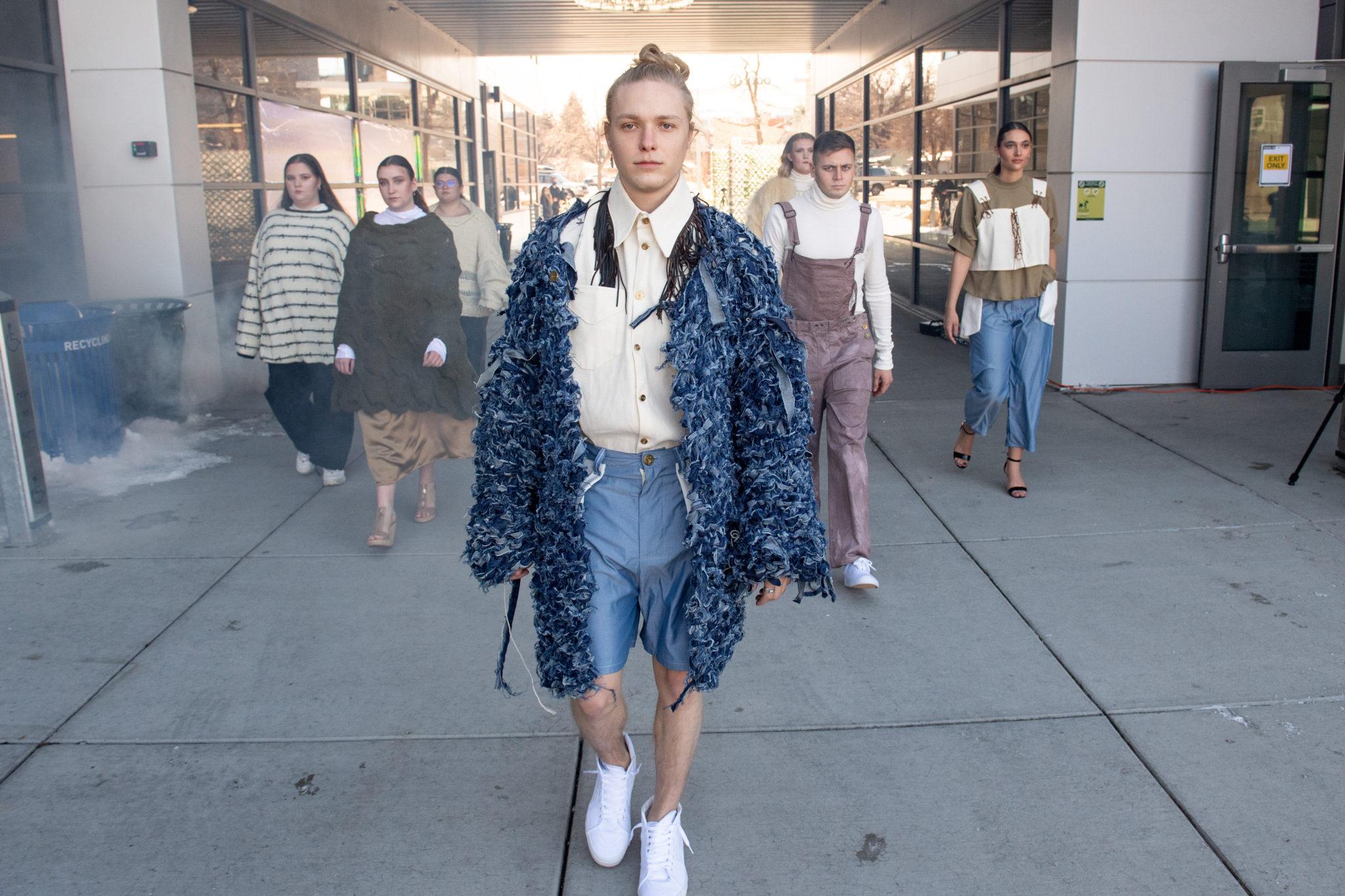 Models walking