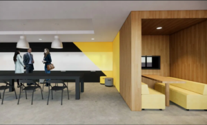 Design of conference room in workplace headquarters