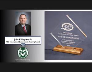 John Killingsworth's ASC Award for International Excellence in Teaching