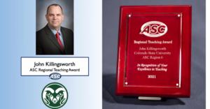 John Killingsworth's ASC Regional Teaching Award