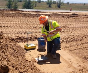 Andy Hieber working on jobsite