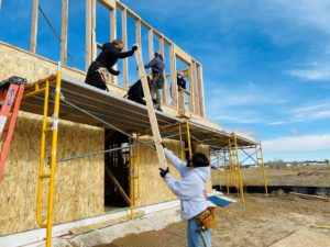 INTD 335 Students Yesenia Avila and Sara Brown participate in a CSU Team Build Day in Greeley, Colorado.