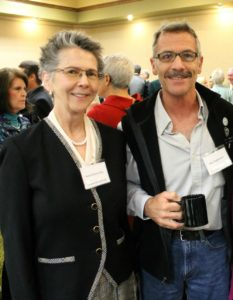 Karen Morris-Fine and Mike Pagliassotti at an event