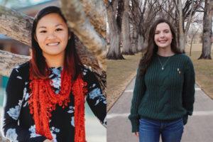A photo collage of Cai Hopkins and Olivia Palizzi