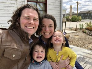 Rebecca Lassell and her family