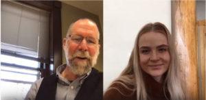 Associate Dean Matt Hickey and Alea Schmidt